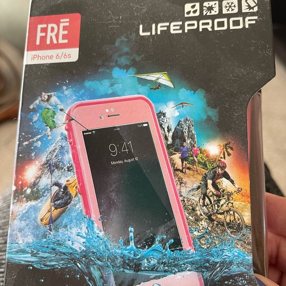 Pink life proof case for an iPhone 6 or 6s